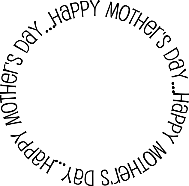 Happy mothers day clip art black and white clipartfest.