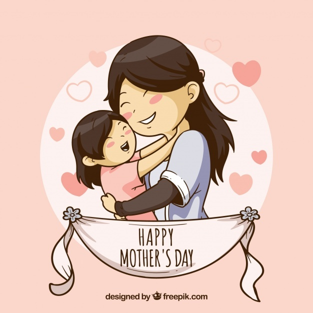 Free Cute background for happy mother\'s day SVG DXF EPS PNG.