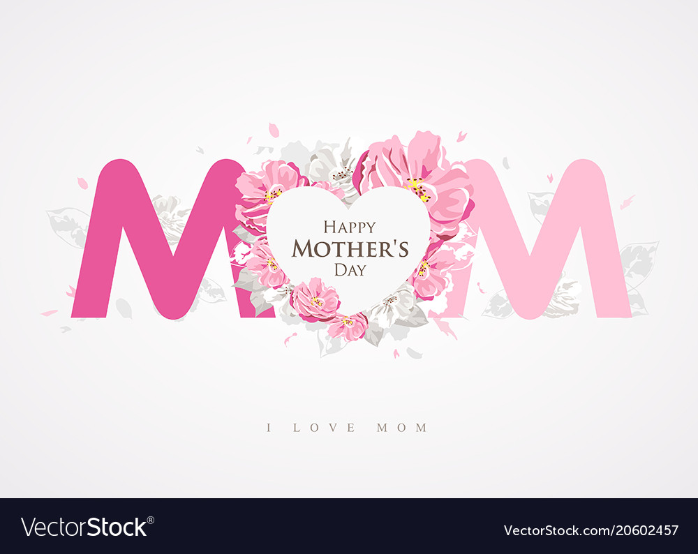 Happy mothers day message mom background.