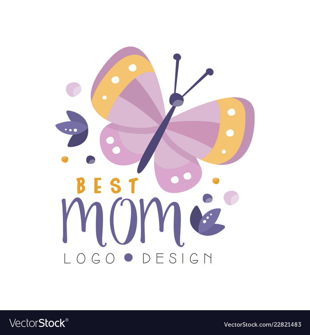 Best mom logo design happy mothers day creative.