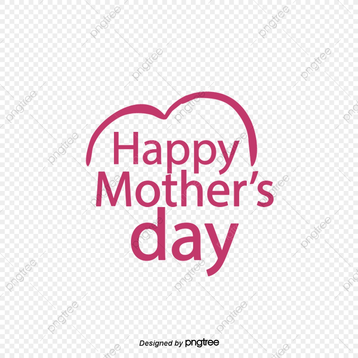 Mothers Day, Red, Letter, Happy PNG Transparent Clipart Image and.