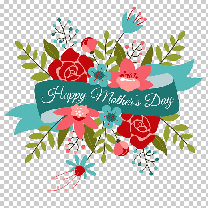 Happy Mothers Day Bouquet, Happy Mother\'s Day text overlay.