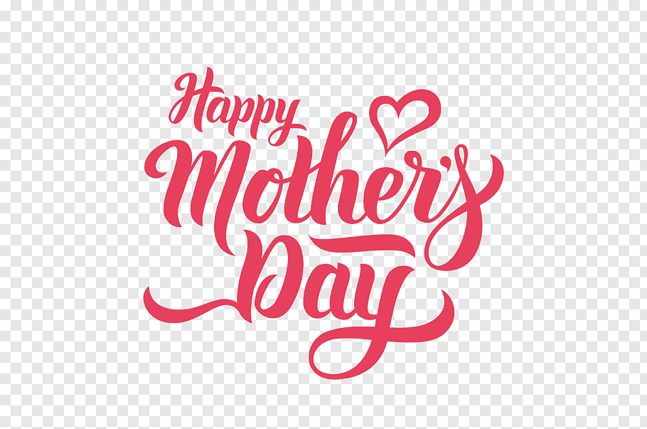 Red text on blue background, Mother\'s Day, HAPPY MOTHERS DAY.