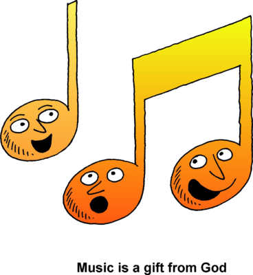 Image: Singing Music Notes.