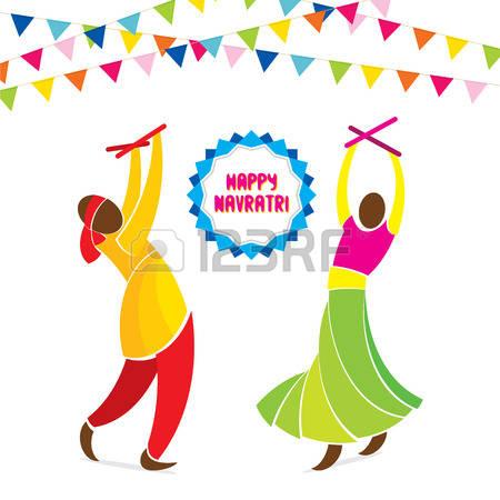 Navratri Celebration Clipart.