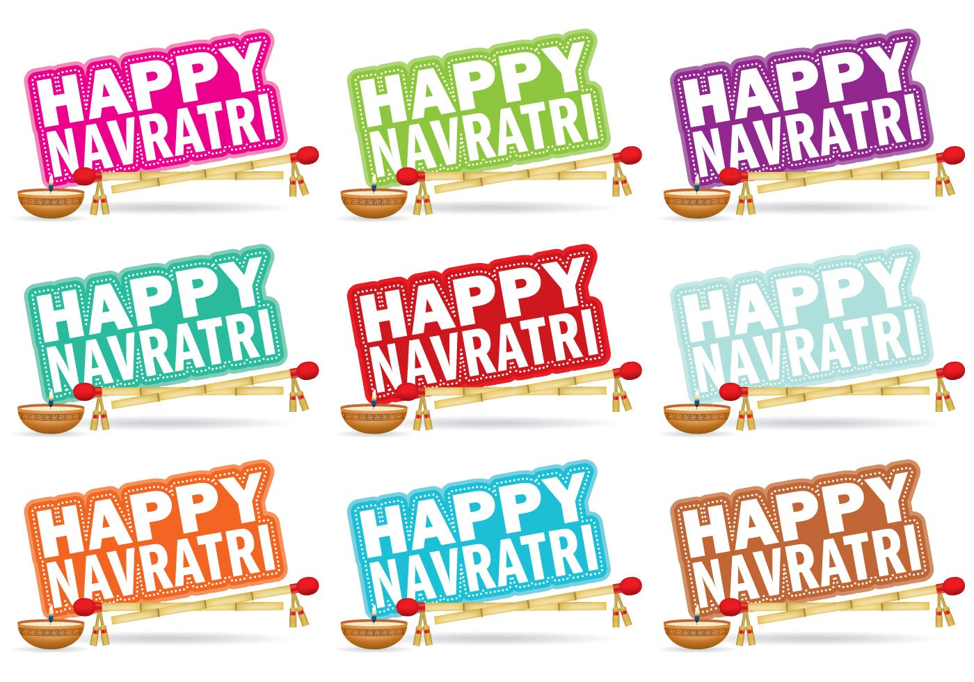 Navratri Wallpaper Free Vector Art.