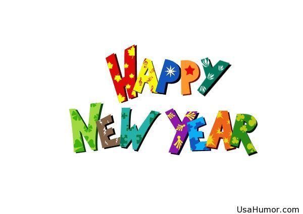 Happy new year for kids clip art.