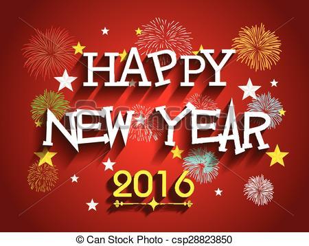 Happy new year 2016 Clip Art Vector Graphics. 11,469 Happy new year.