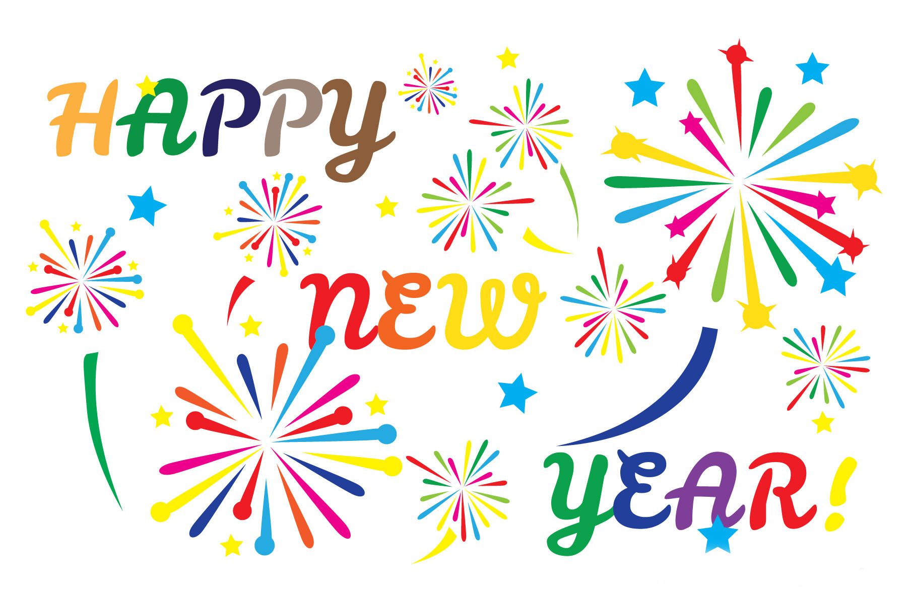 Free happy new year clipart pictures.