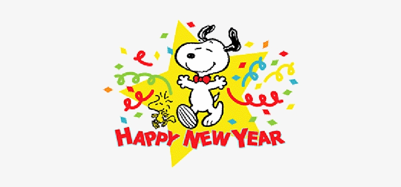 Snoopy New Year Clip Art Cliparts.