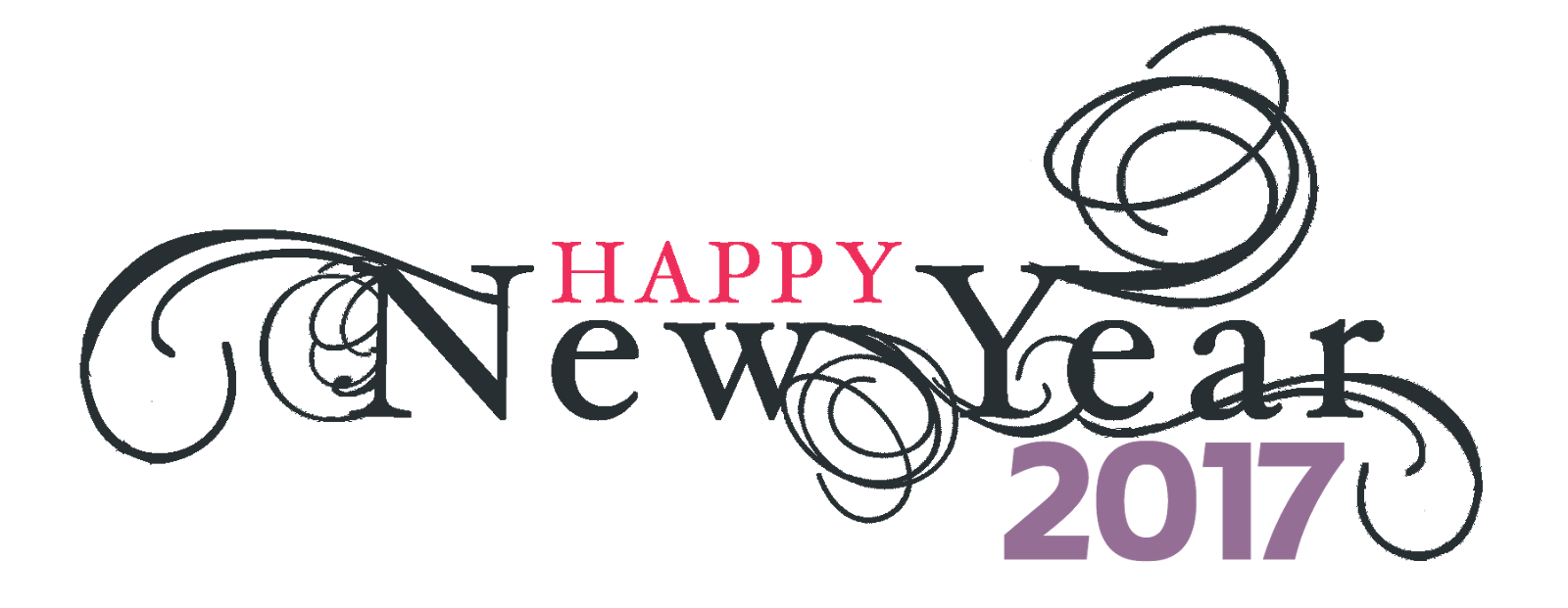 Happy New Year 2017 Png Logo.
