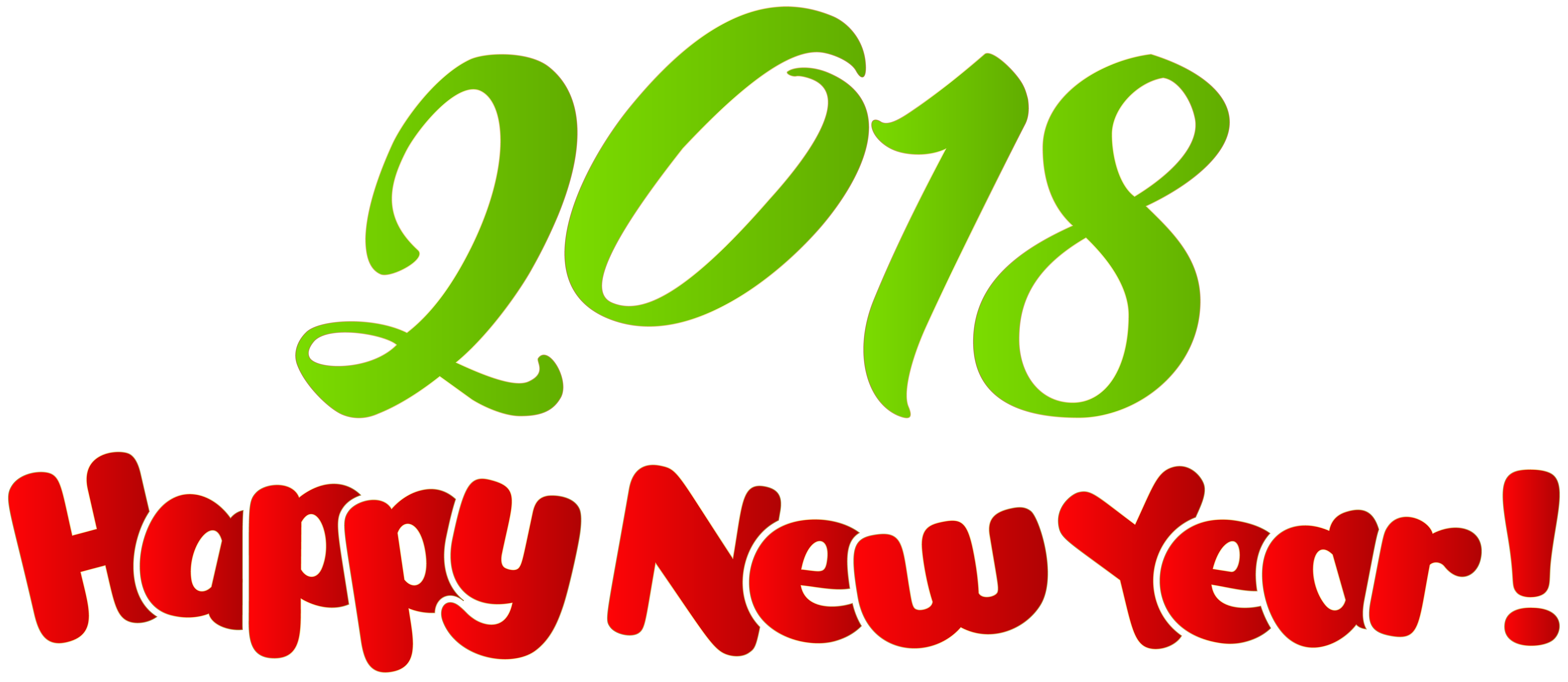 2018 Happy New Year PNG Clip Art Image.