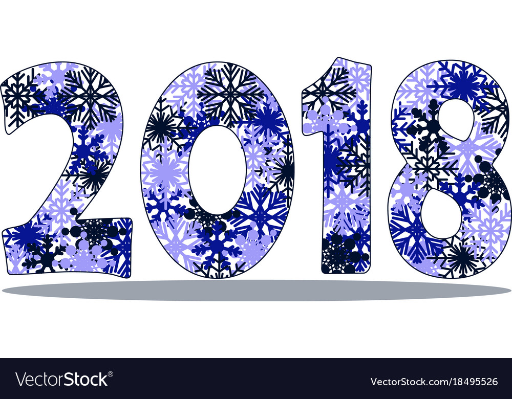 Happy new year 2018 background.