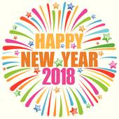 Happy New Year 2018 Clip Art.