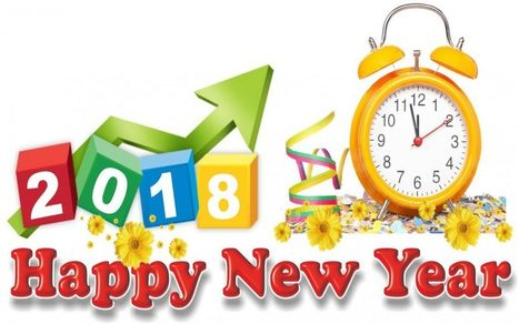 Happy New Year Clipart 2018.