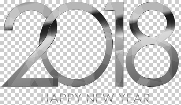 New Year\'s Day Wish , 2018 Happy New Year Silver, gray 2018.