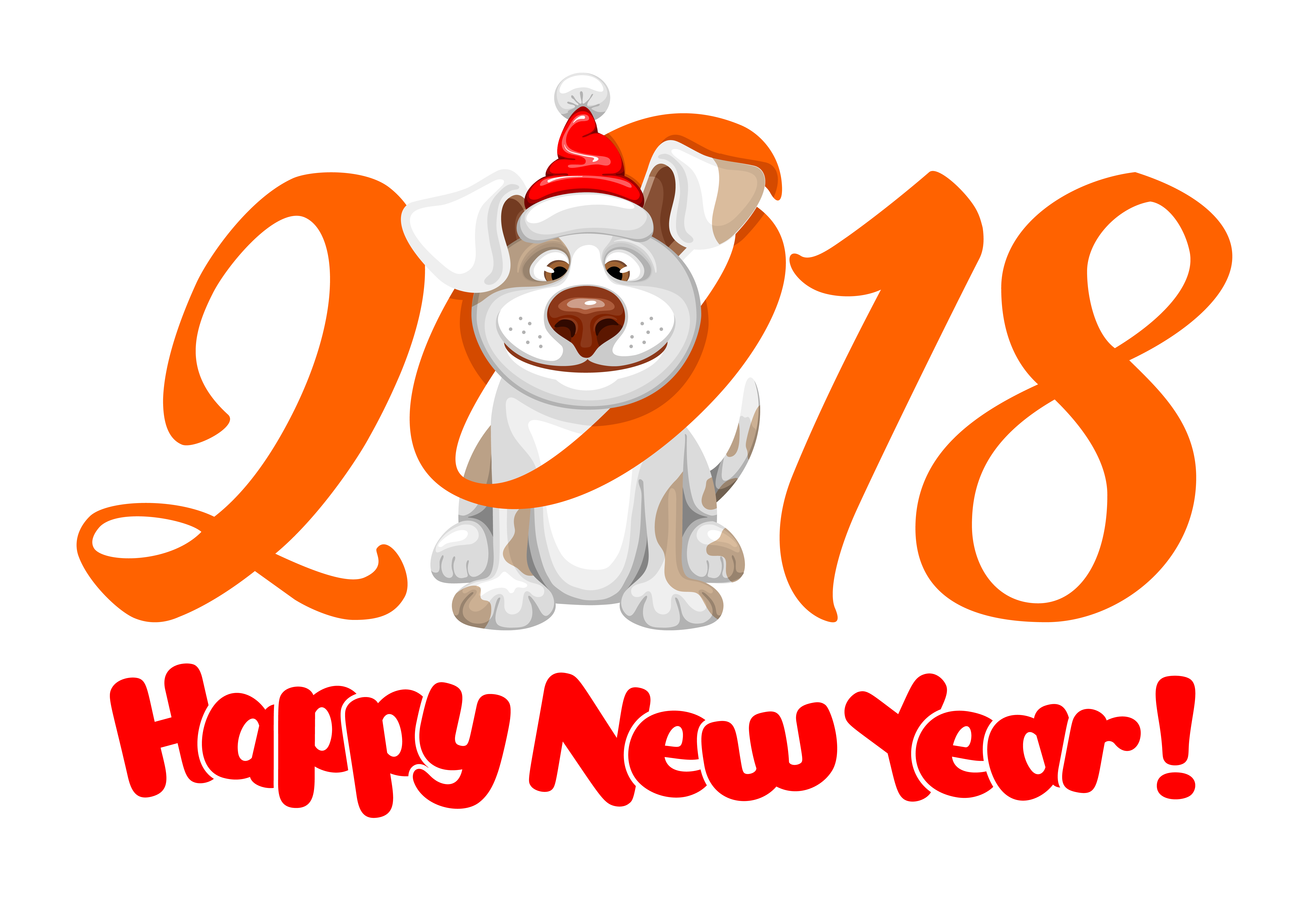 2018 Happy New Year PNG Image.