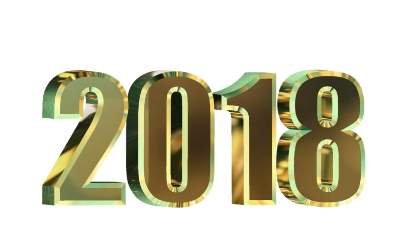 Download Free png 2018 Happy New Year Transparent Background.