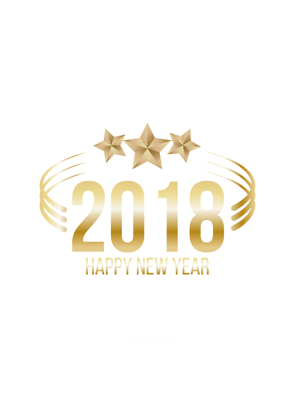 Happy New Year photo 2018 png.