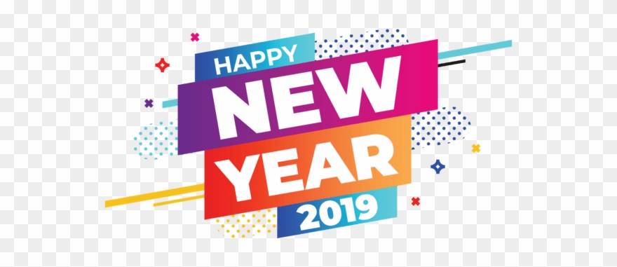 Happy New Year 2019 Banner Clipart (#2635515).