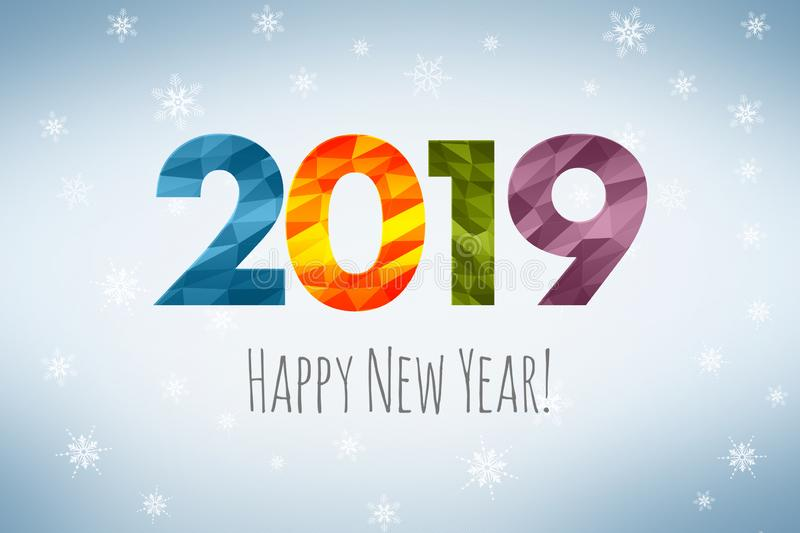 Happy New Year 2019 Stock Illustrations.