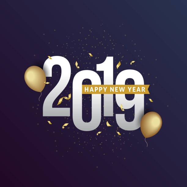 Best Happy New Year 2019 Illustrations, Royalty.