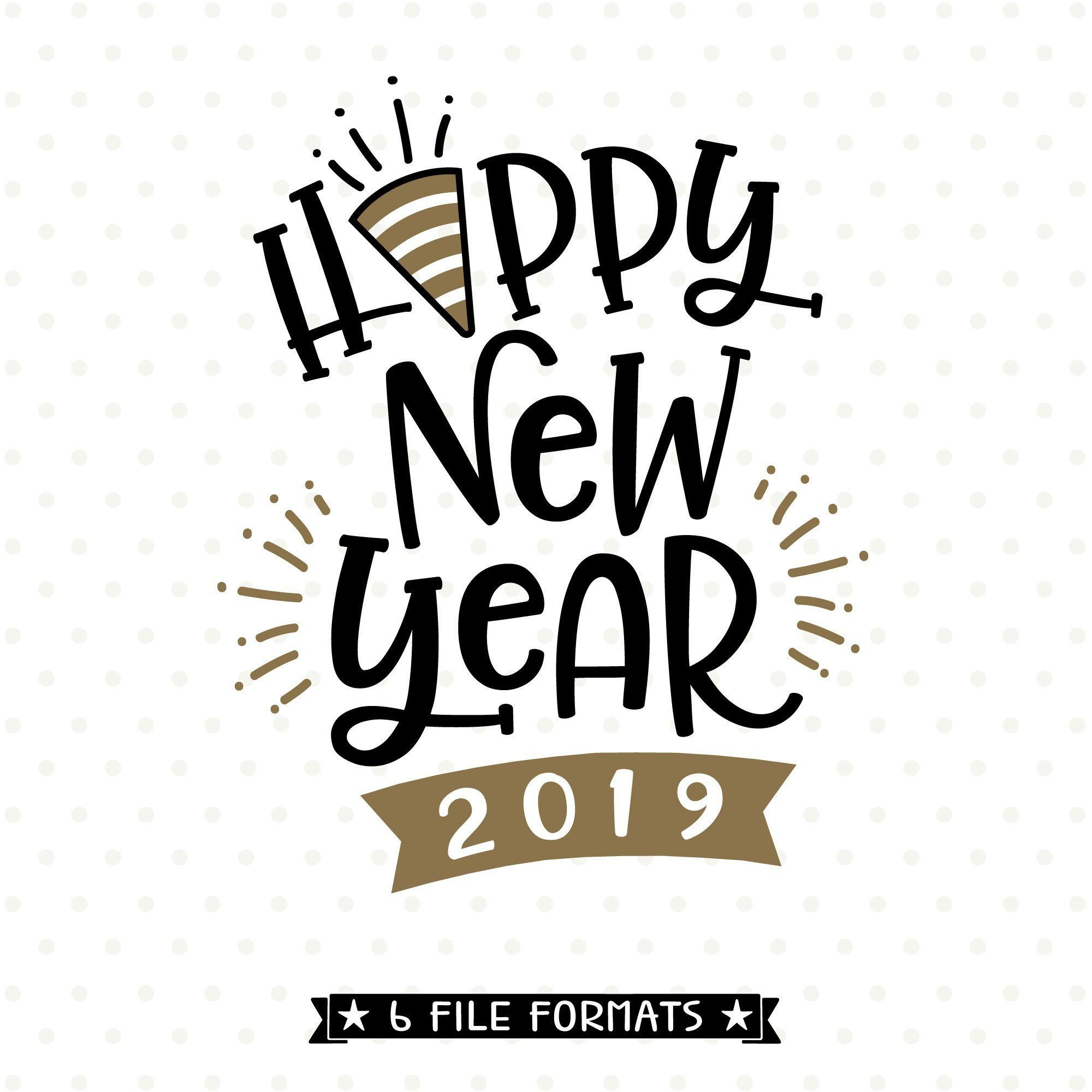 Happy New Year 2019 Clipart to you.