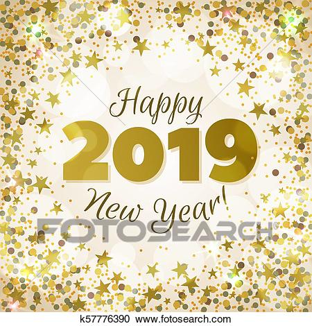 Happy New Year 2019 Clipart.