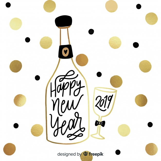 Happy new year 2019 background Vector.