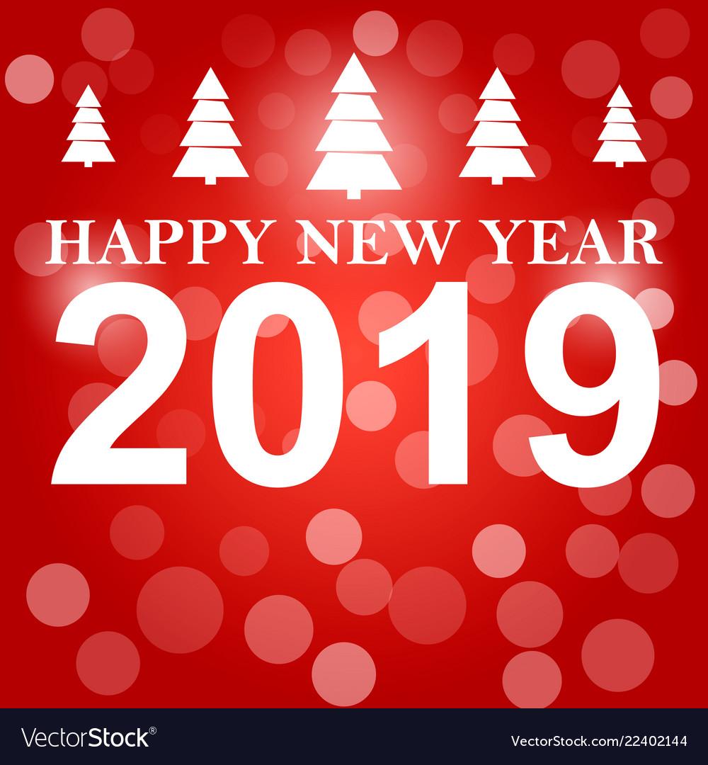 Happy new year 2019 background decoration.