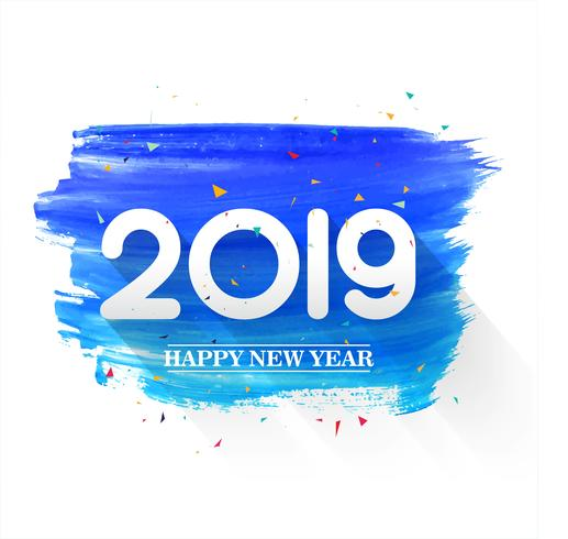 Beautiful Happy New Year 2019 text background.