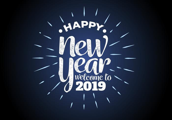 Happy New Year 2019 Background Vector Illustration.