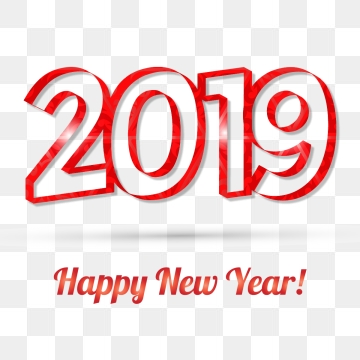 Happy New Year 2019 PNG Images.