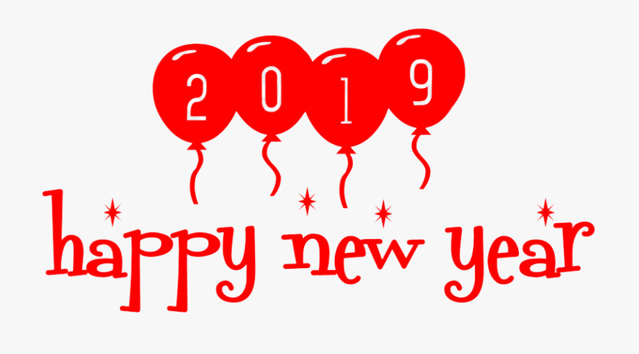 New Year 2019 Png Transparent Images.