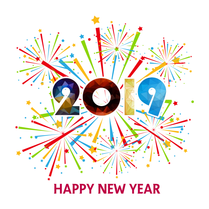 Happy New Year 2019 PNG.