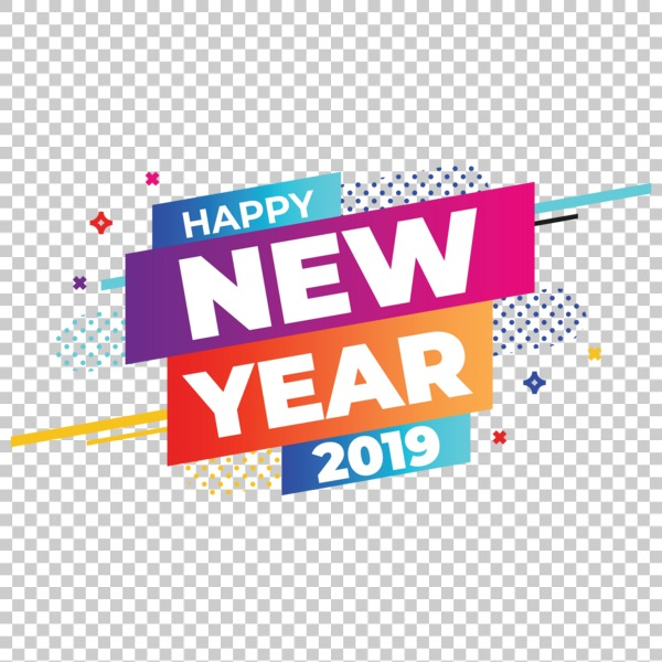 Happy new year 2019 Free PNG.