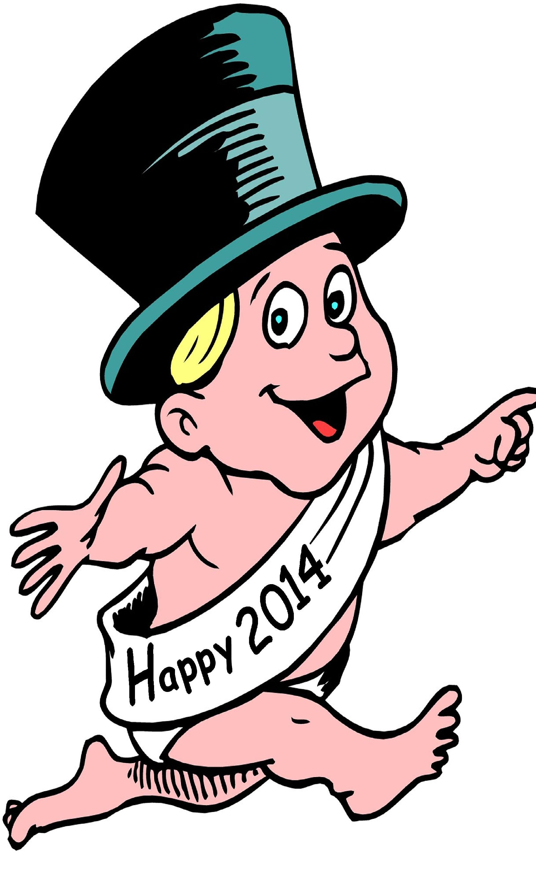 Happy New Year Baby Clipart.