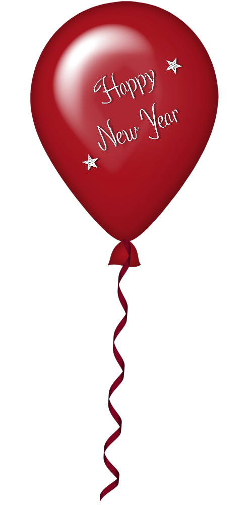 New Year Red Balloon PNG Clipart.