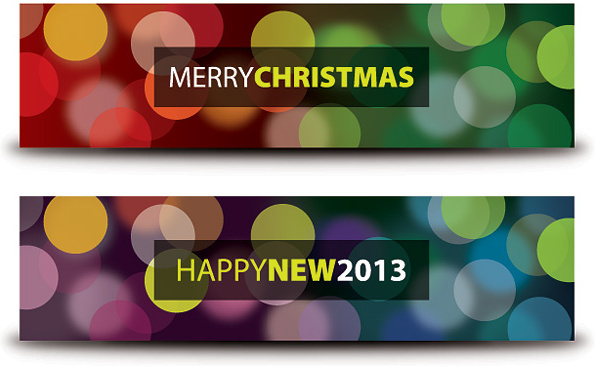 Merry christmas and happy new year banner clip art free.