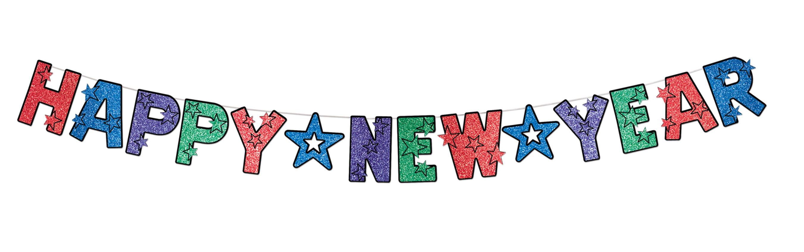 Happy New Year Banner Clipart.