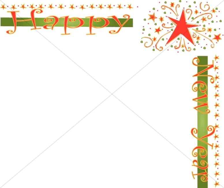 Stars Happy New Year Border.