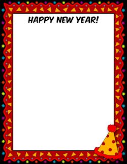 Happy New Year Border.