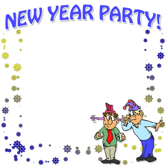 Free Happy New Year Borders.