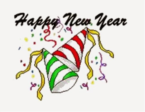 Free Happy New Year Celebrations Clipart 2014.