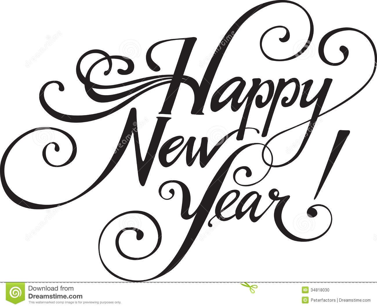 New Years 2014 Clip Art Black And White New Year 2014 Clip Art.