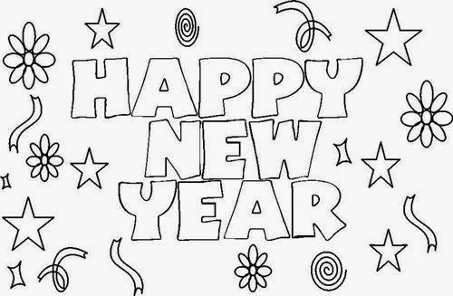 Happy new year black and white clipart 3 » Clipart Portal.