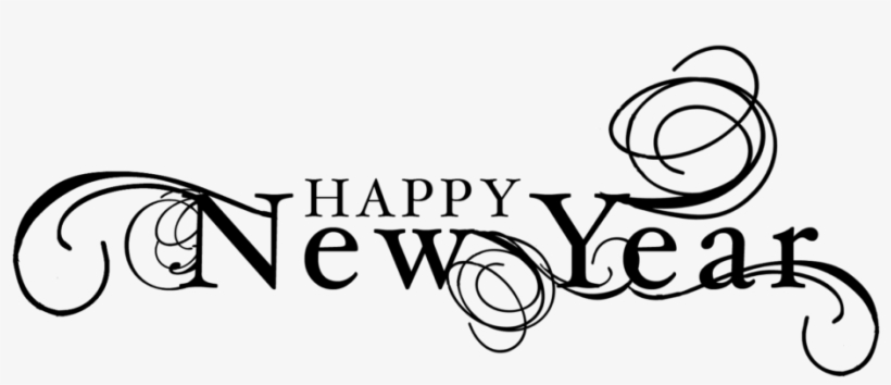 New Year 2019 Black And White Clipart.