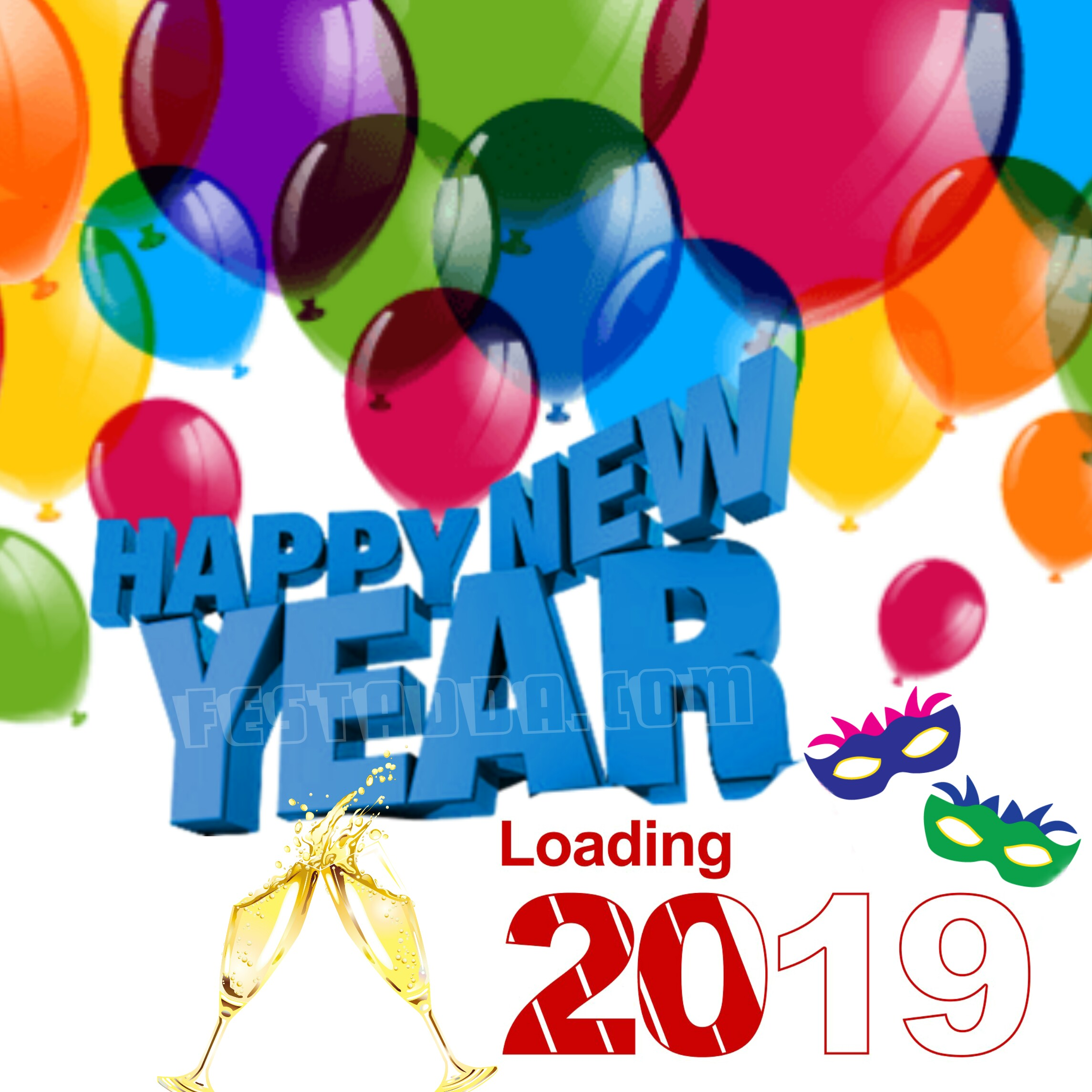 Free Happy New Year Clipart 2020 Images Pics For Whatsapp & FB DP.