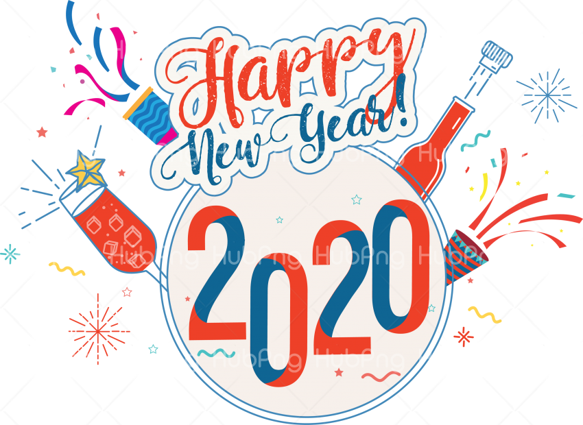 happy new year 2020 png photos Transparent Background Image.