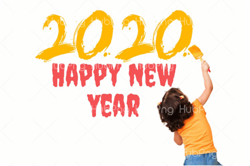 yellow Happy New Year 2020 PNG Clipart Transparent.